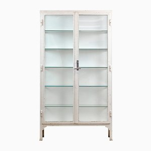 Glass and Iron Medical Cabinet, 1940s