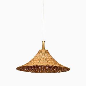 Lampe à Suspension en Osier, années 60