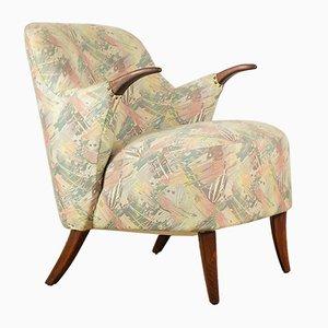 Club chair in faggio, anni '60