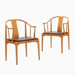 Model 4283 Armchairs by Hans J. Wegner for Fritz Hansen, 1986, Set of 2