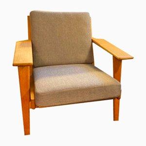 Vintage GE290 Sessel mit Gestell aus Eiche von Hans J. Wegner für Getama