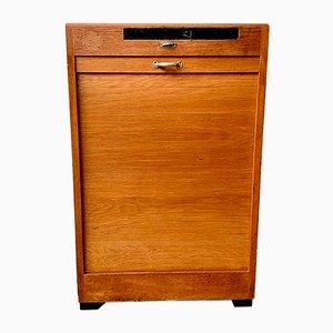 Model D218 Oak Veneer Haberdashery Tambour Cabinet, 1950s