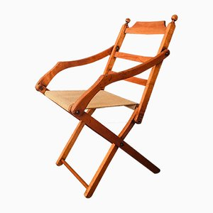 Antique Folding Campaign Chair