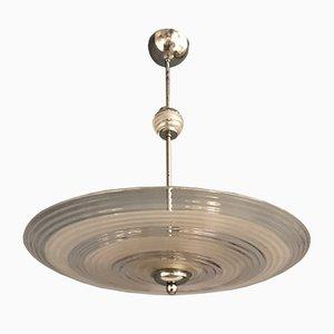 Lámpara colgante de cristal de Murano, años 50