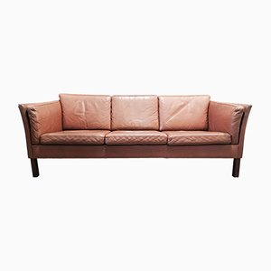 Scandinavian Modern Leather Sofa, 1970s