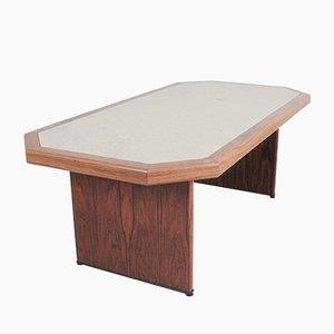 Tavolo da pranzo in palissandro e pelle di Walter Knoll / Wilhelm Knoll, anni '60