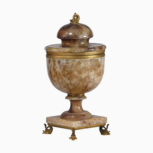 Brass and Alabaster Urn, 1960s