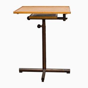 Tavolino in metallo e legno di Georg Albert Ulysse Caruelle per Embru, anni '80