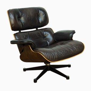 Sessel mit Schale aus Palisander von Charles & Ray Eames für Vitra, 1970er