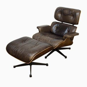 Lounge Chair and Ottoman by Charles & Ray Eames for Vitra, 1970s