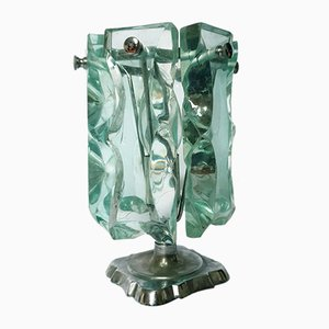 Lampada da tavolo Mid-Century in vetro di Fontana Arte, 1966