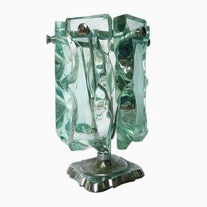 Lámpara de mesa Mid-Century de vidrio de Fontana Arte, 1966