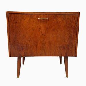 Mid-Century Walnut Record Cabinet, 1960s