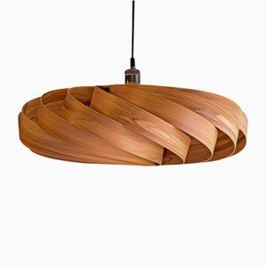 Large Walnut Andromeda Pendant Lamp by Manuel Döpper for