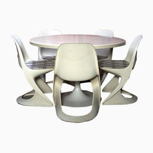 Dining Table & Chairs Set by Alexander Begge for Casala, 1973, Set of 6
