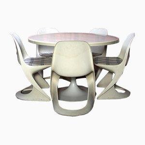 Juego de mesa y sillas de comedor de Alexander Begge para Casala, 1973. Juego de 6