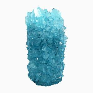Jarrón Mini de cristal en azul de Isaac Monté