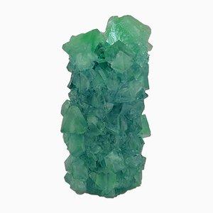 Vaso Mini in cristallo di Teal di Isaac Monté