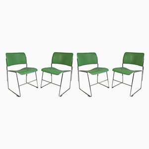 Green 40/4 Dining Chairs by David Rowland for General Fireproofing, 1950s, Set of 4
