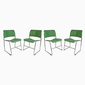Grüne 40/4 Esszimmerstühle von David Rowland für General Fireproofing, 1950er, 4er Set