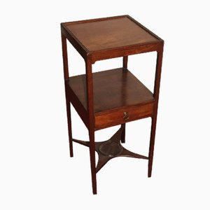 Antique Mahogany Washstand with Drawer, 1900s