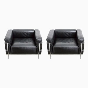 LC3 Sessel von Le Corbusier für Cassina, 1960er, 2er Set