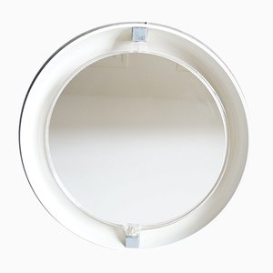Round Backlit Mirror from Allibert, 1970s