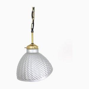 Lampe à Suspension Mid-Century en Verre, années 60
