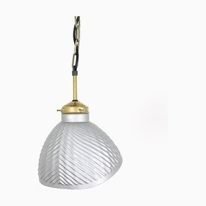 Mid-Century Glass Pendant Lamp, 1960s