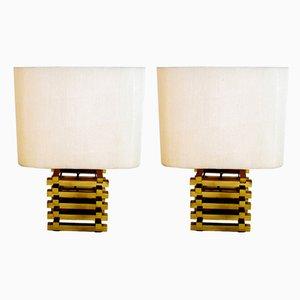 Lámparas de mesa italianas de Romeo Rega, años 70. Juego de 2