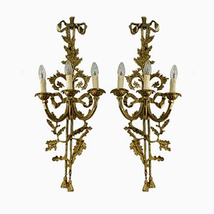 Bronze Sconces, 1950s, Set of 2