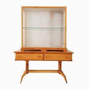Beech Display Cabinet, 1950s