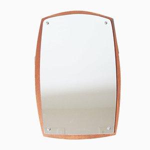 Rechteckiger Mid-Century Spiegel mit Rahmen aus Teak