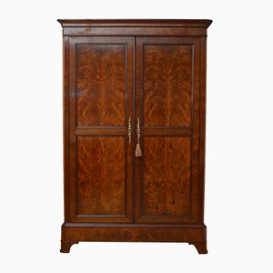 Large Antique Flame Mahogany Wardrobe