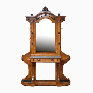 Antique Victorian Oak Hall Stand