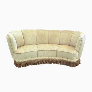 Dänisches Vintage Sofa aus Velours