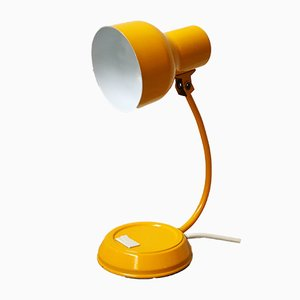 German Model V2186 Yellow Table Lamp from Sölken Leuchten, 1960s