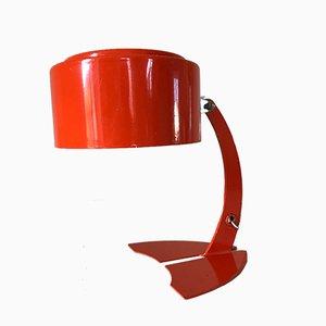 Lámpara de mesa vintage de aluminio naranja, años 70