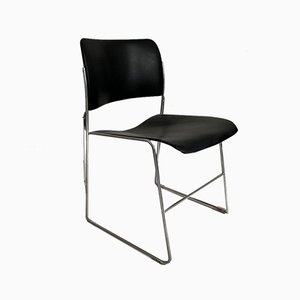 Black 40/4 Side Chair by David Rowland, 1950s
