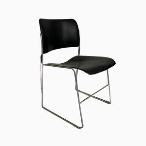 Schwarzer 40/4 Beistellstuhl von David Rowland, 1950er