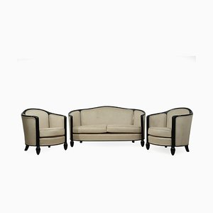 French Sofa and Chairs, 1920s, Set of 3