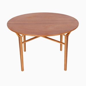 Danish Beech, Teak, and Mahogany Coffee Table by Peter Hvidt & Orla Mølgaard-Nielsen for Fritz Hansen, 1960s