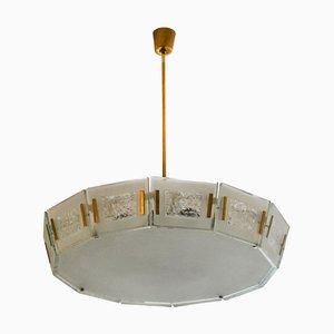 Lámpara de techo 2270 de Max Ingrand para Fontana Arte, años 50