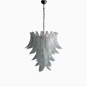 Lámpara de araña italiana de cristal de Murano, 1982