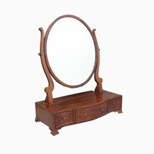 Antique Mahogany-Framed Mirror