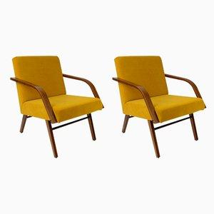 Gelbe Vintage Sessel, 1960er, 2er Set