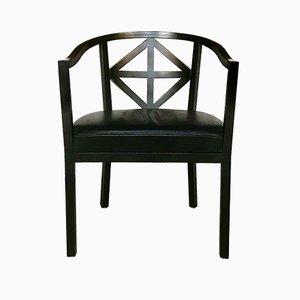 Vintage Villa Ast Chair by Josef Hoffmann for Wittmann, 1980s