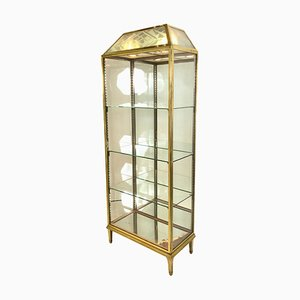 Brass Display Cabinet, 1930s