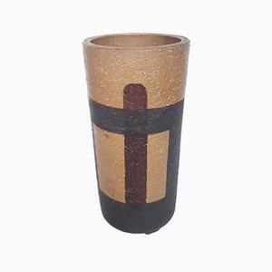 Vaso in ceramica di Aldo Londi per Bitossi, anni '50