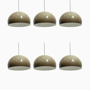 Model Meblo Ceiling Lamps from Harvey Guzzini, 1970s, Set of 6